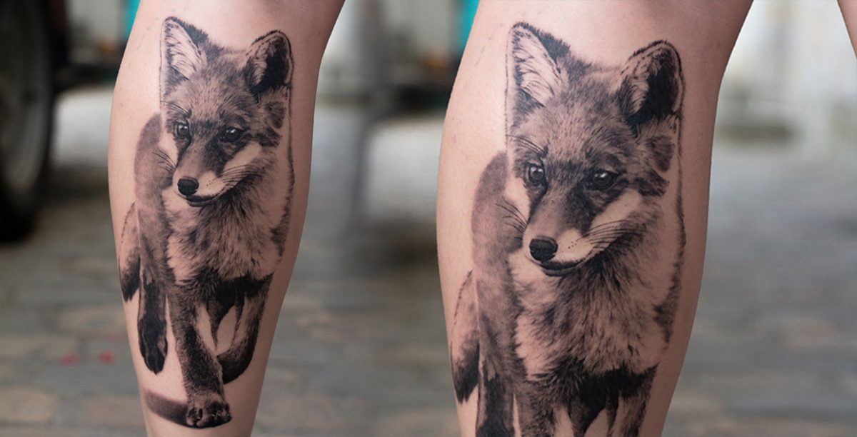 My realistic fox tattoo