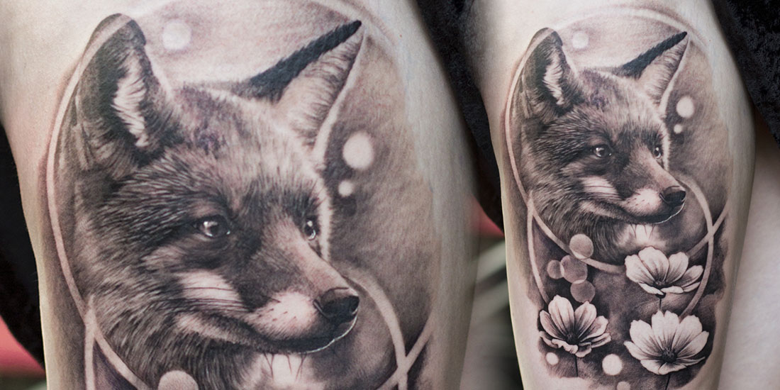 Another cute fox tattoo